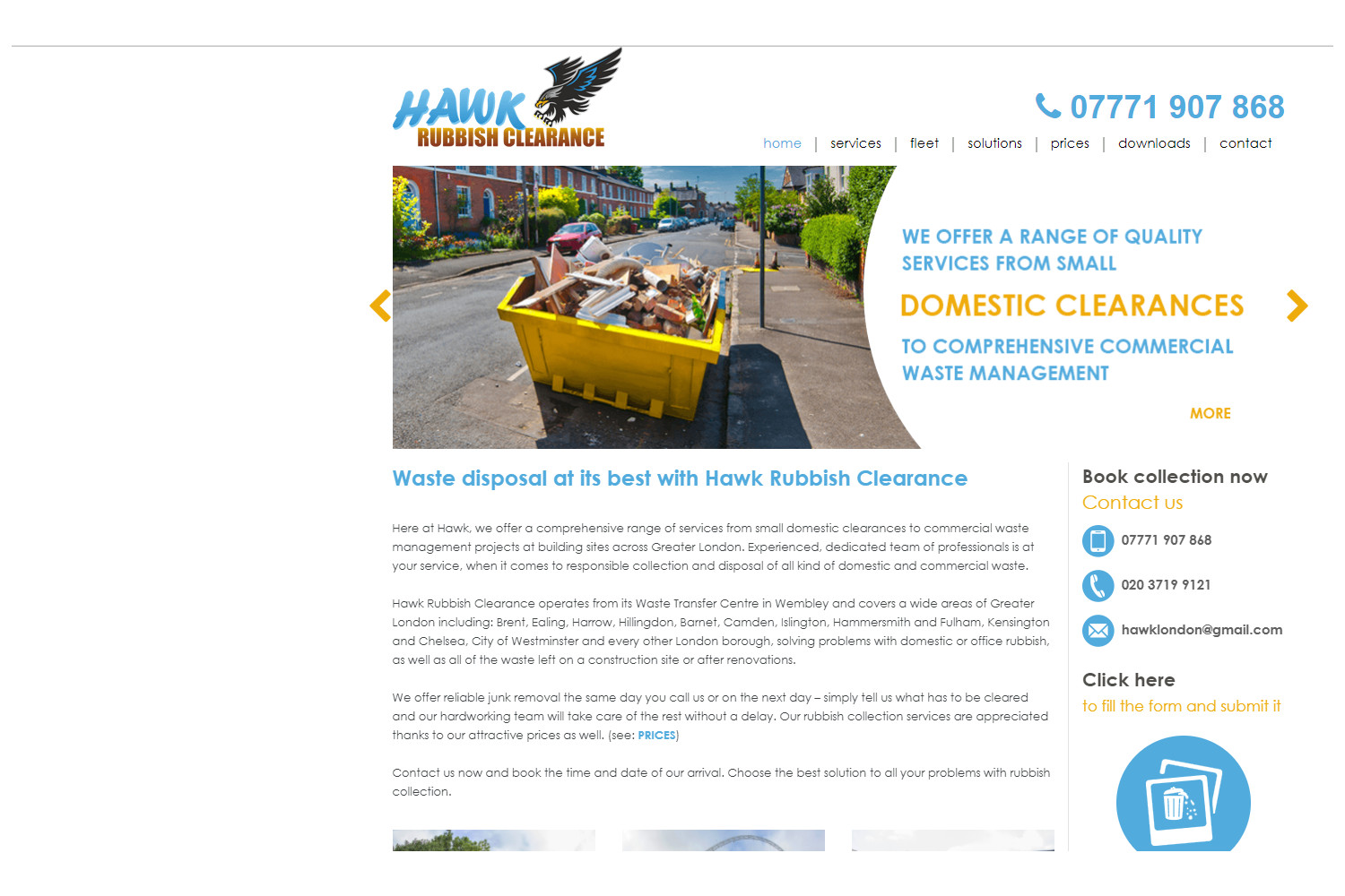 Hawk Rubbish Clearance - Website
