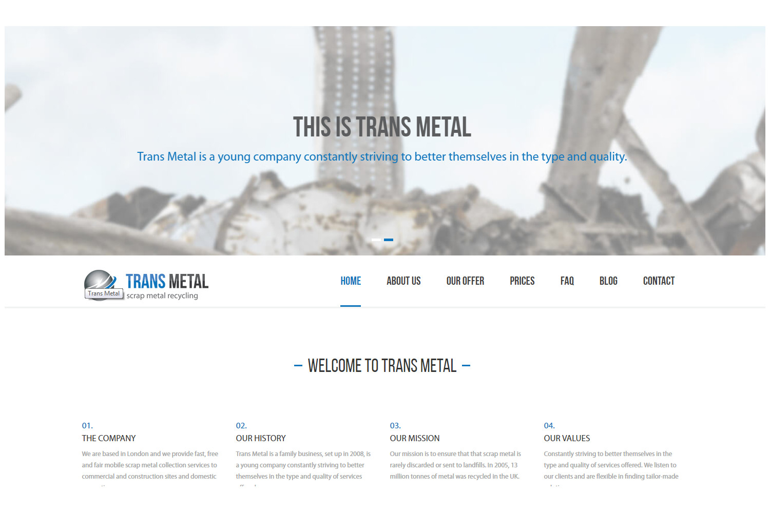 Trans Metal - Website